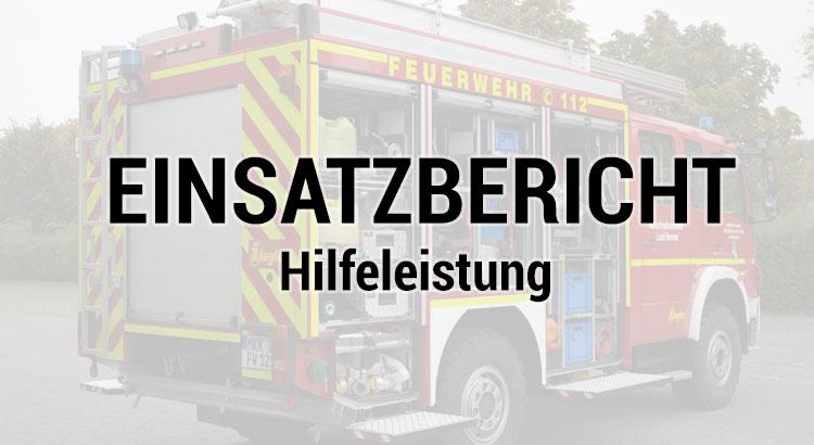Feuerwehr Steinau Ulmbach Hilfeleistung